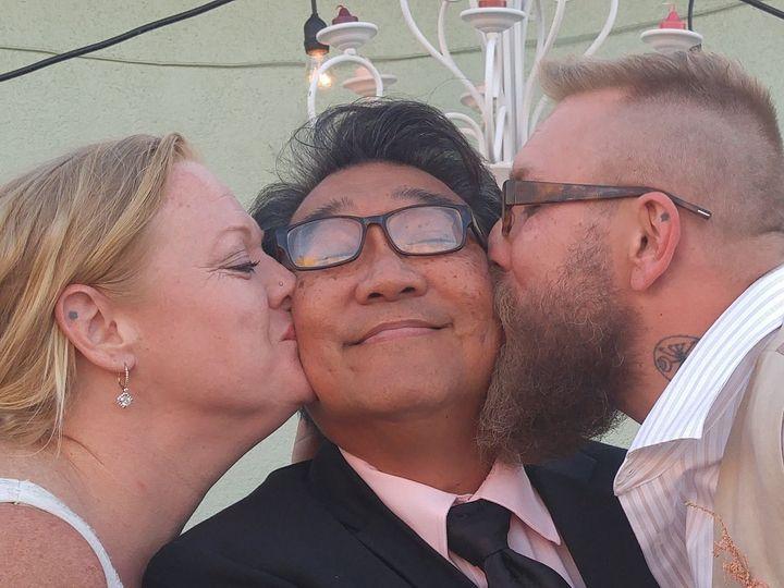 Tmx 1501722345 C32e133868307836 0416161909c Kissing W Shannon   Jason  Carson, California wedding officiant
