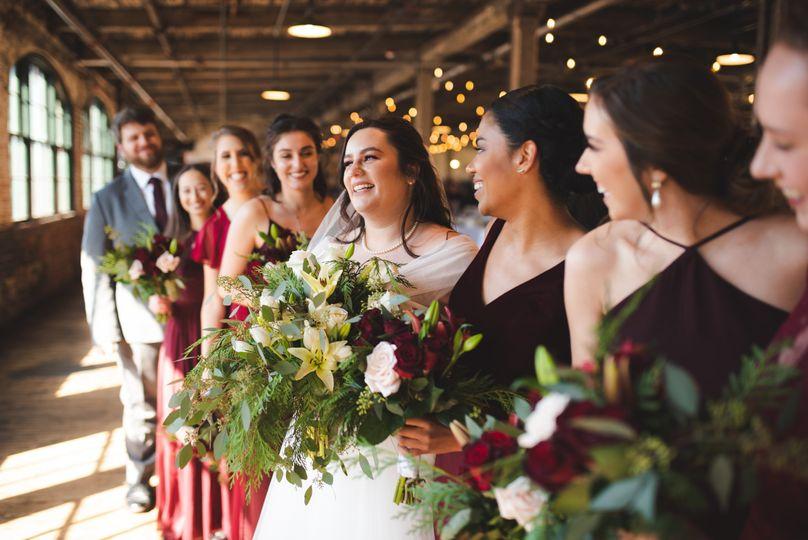 Piquette Plant, Detroit matching bouquets