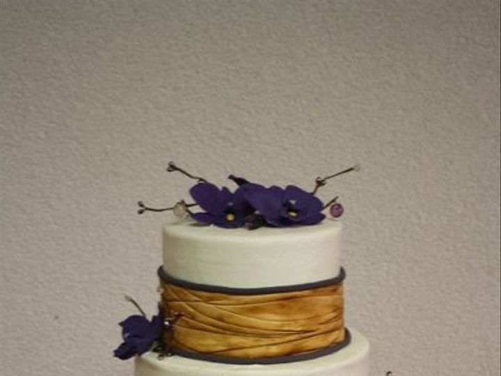 Tmx 1334022706611 Orchidwedding Clearfield wedding cake