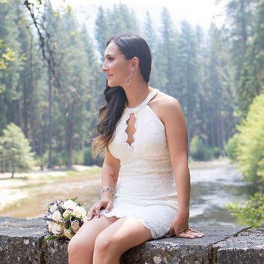 "Bridal makeup, enhanced ""natural beauty."""