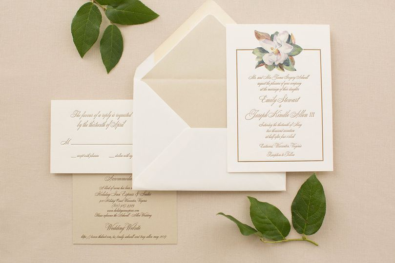 Beige invitations