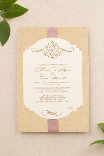 Beige invitations