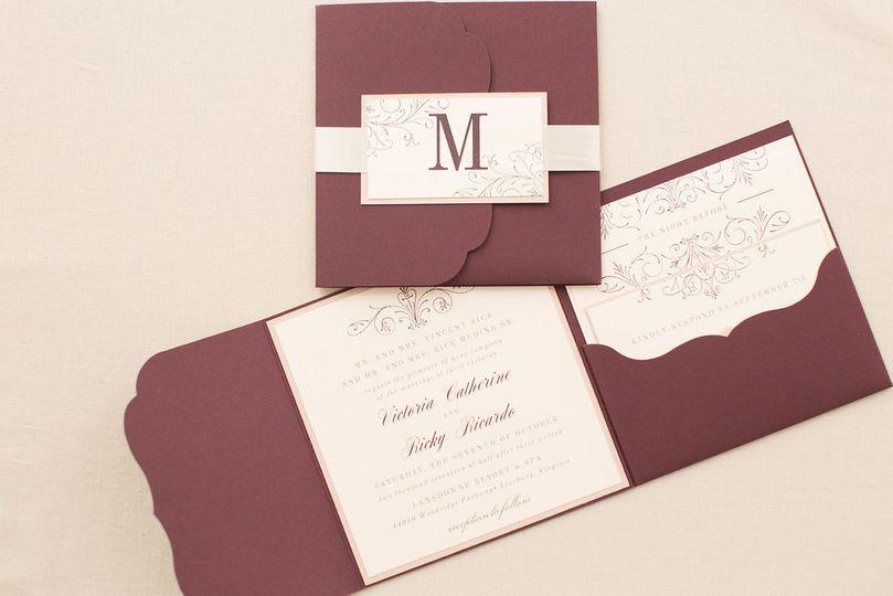 Maroon invitations