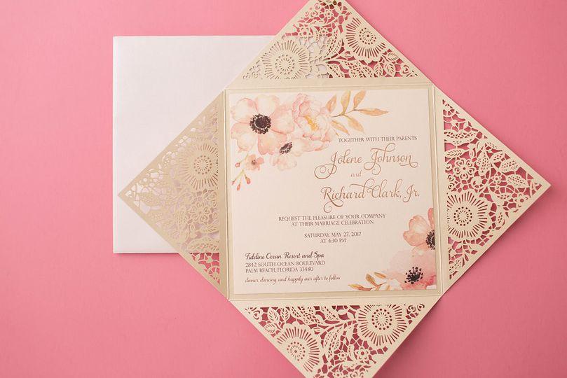 Pink invitations