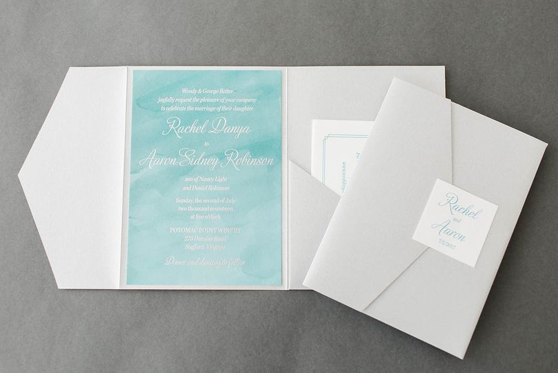 Sky blue invitations