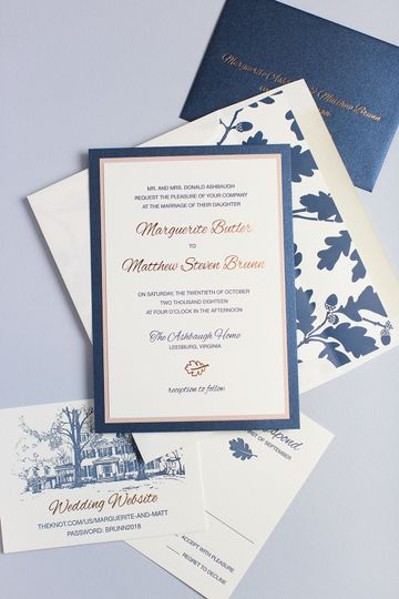 Fall Foliage Wedding Invitatio