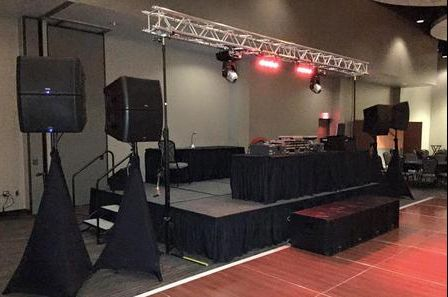 Stage and booth setup