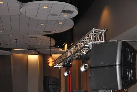 Stage setup and sound system