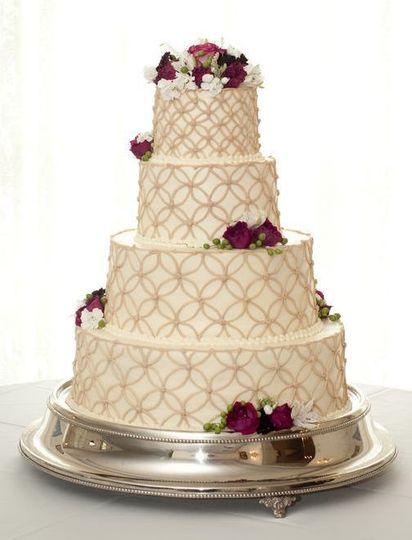 Intricately detailed wedding cake