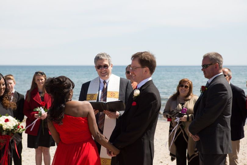 My very first wedding, April 11, 2014, on the shore of Lake Michigan in Racine, Wisconsin.