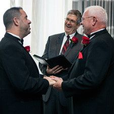 This Valentine's Day wedding with these two amazing gentlemen was a blast!