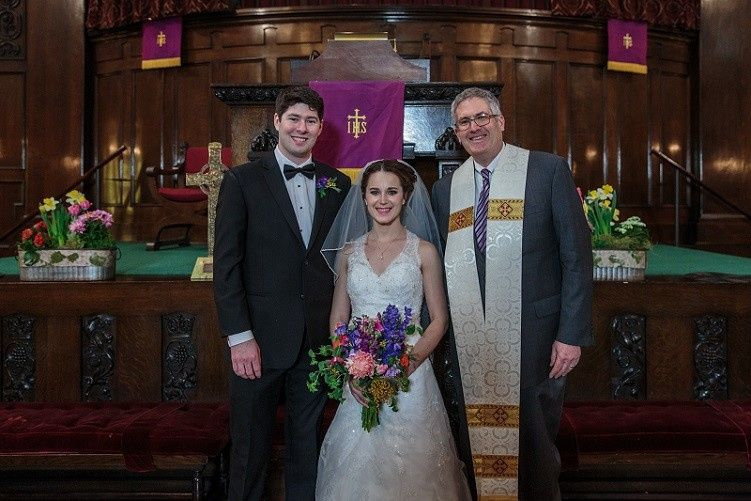 Married at a downtown Chicago church