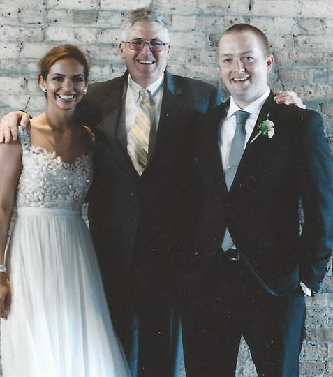 Ben and Sarah's Milwaukee wedding featured this beautifully lit space with rustic brick.