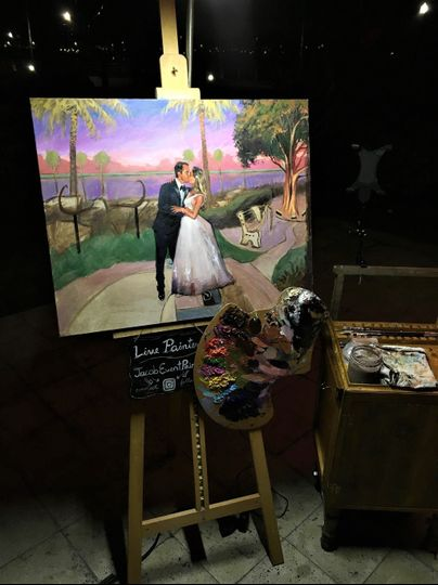 Live Wedding Painting 24x30 in