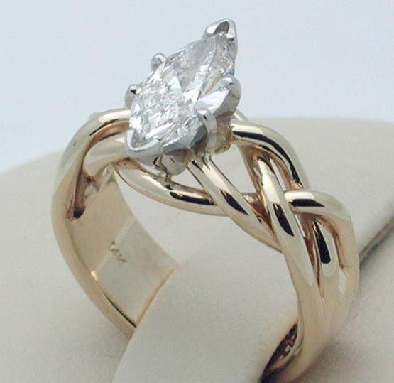 Hand made Celtic design engagement ring.