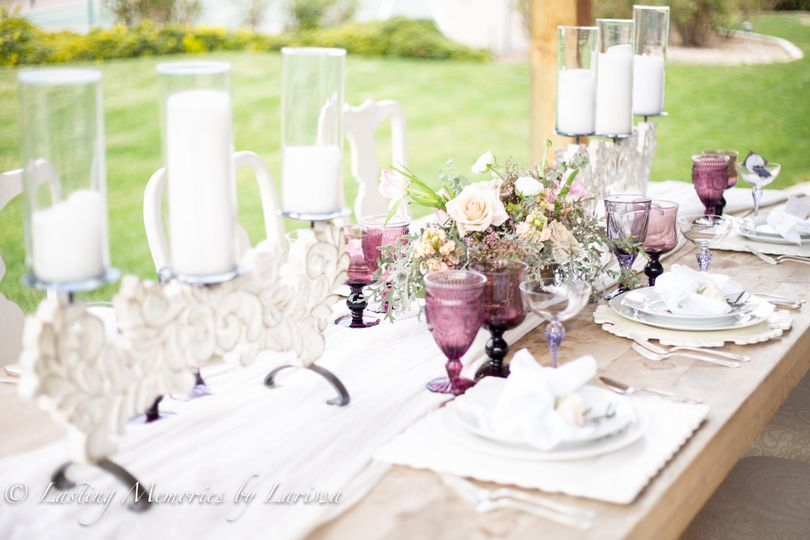 Beautiful table set up