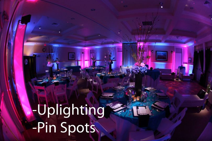 Uplighting and pin spots