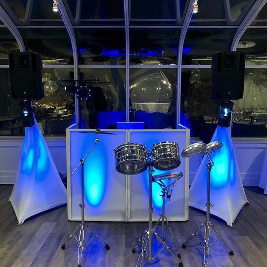 DJ Engagement Party Set Up