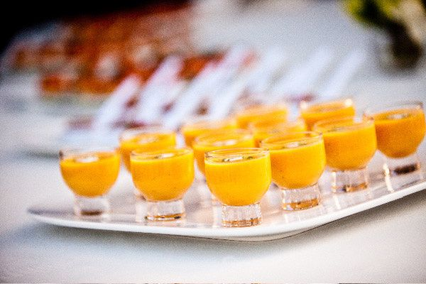 Roasted Butternut Squash and Lobster Bisque Shooters