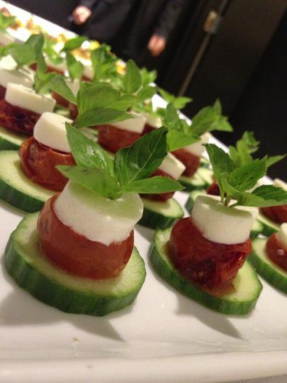 Roasted Cherry Tomato Mini Caprese Salad