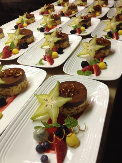 Chocolate Haupia Mousse Cake with Fresh Fruit