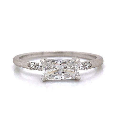 Emerald unique Engagement Ring