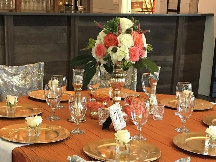 Tmx 1507734778702 Big Fake Orange Table Acworth wedding florist
