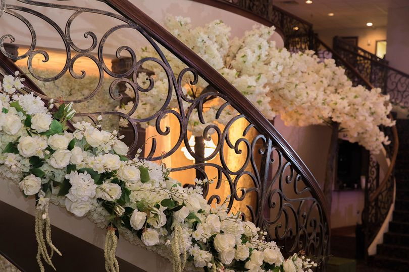Flowers on the grand staircase