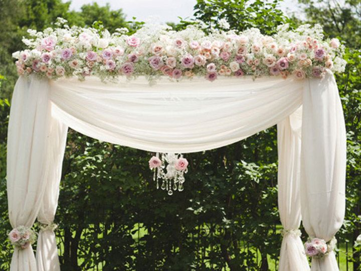 Tmx 1488842571813 Ivory Blush Pink Ceremony Arch Chuppa Decorations Cypress, Texas wedding florist
