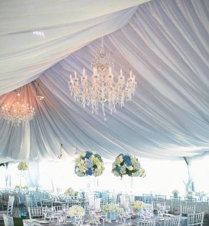 Wedding tent setup