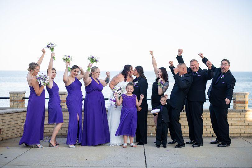 Celebrating the brides