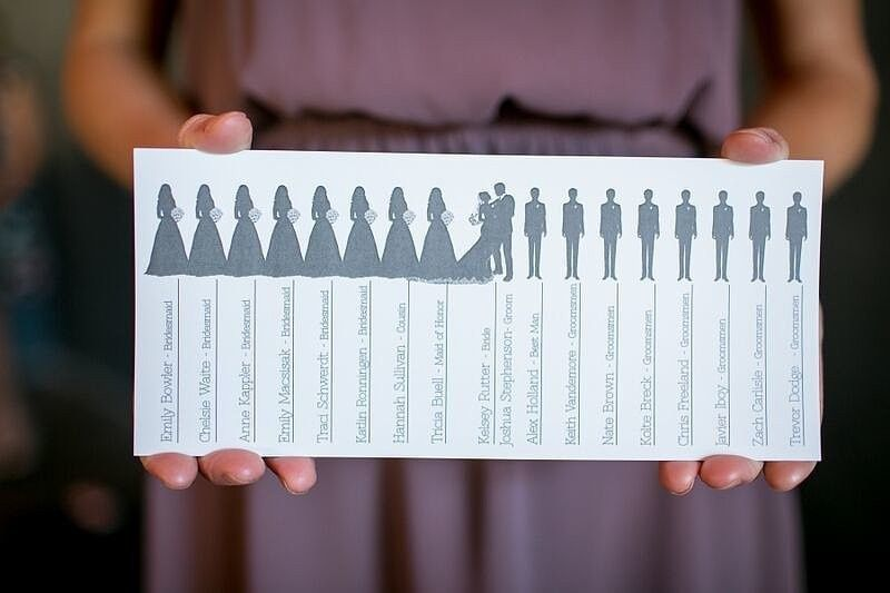 cute wedding party programs totally frame worthy