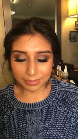Bridesmaid eyeshadow
