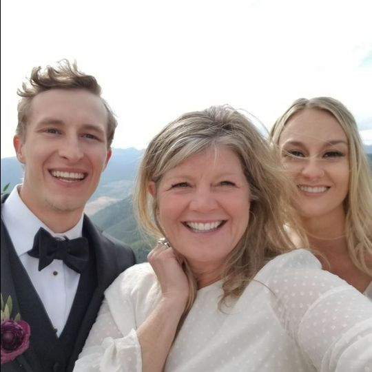 Vail Wedding Deck Selfie