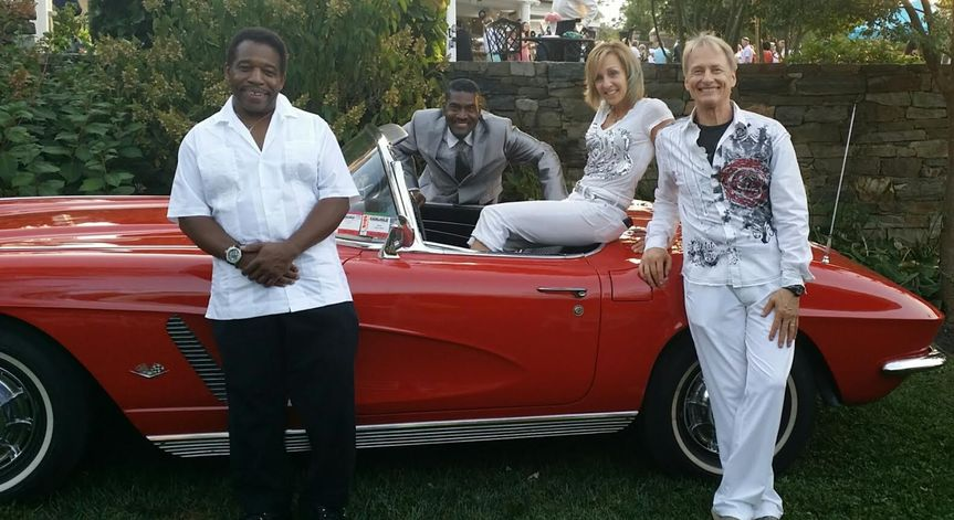 The band and their car