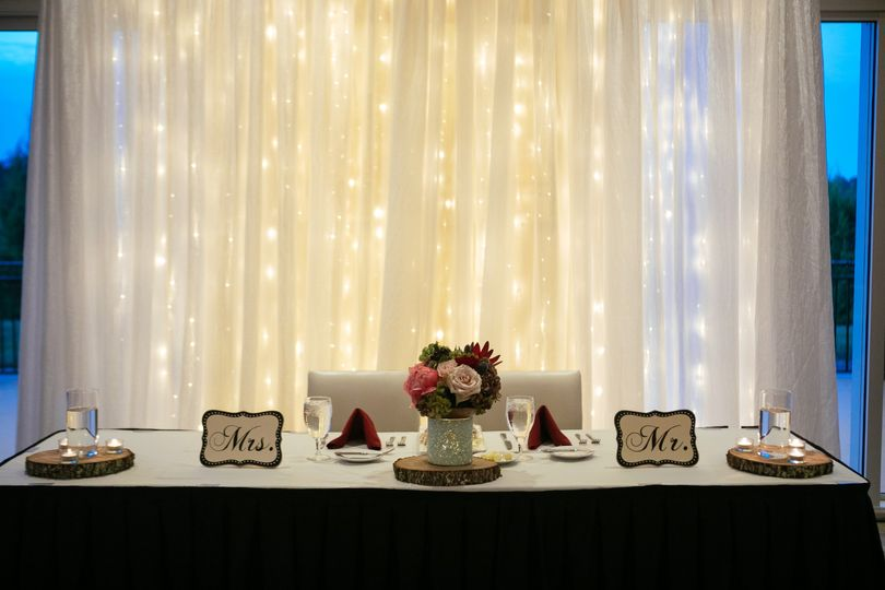 Mr. & Mrs. Head table