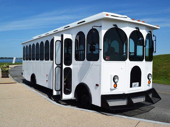 Tmx Executive Trolley 6697 Exterior 51 1897111 157929318456673 Newport, RI wedding transportation
