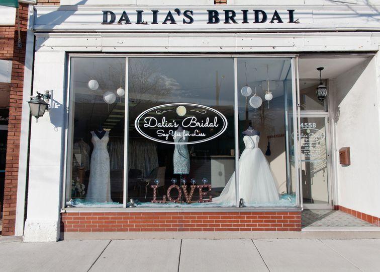 Dalia's Bridal storefront