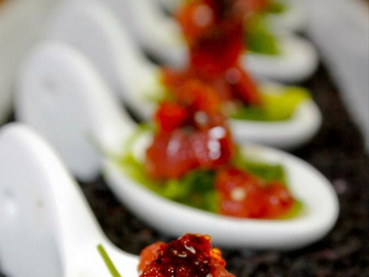 Tmx 1368117936725 Yellowfin Tuna Poke Salad Seaweed Ginger Infused Tobiko Caviar Sweet Soy Charleston wedding catering