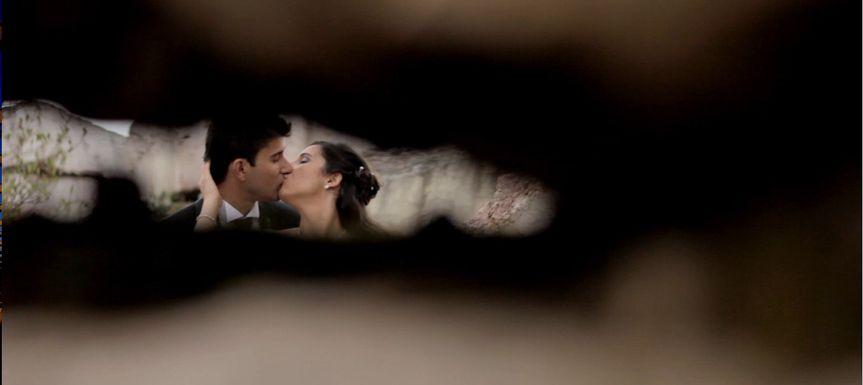 noivos beijo