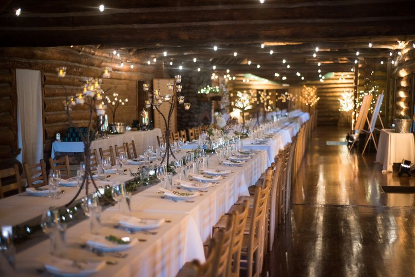 Long table setup | Sarah Boisjoli, Lighting by: LNJ Lighting, Party Rentals by: Durants Party...