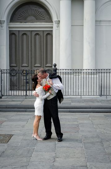 Kiss in Jackson Square Nola