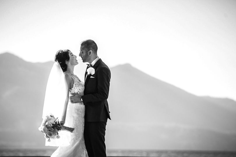 Wedding ceremony at Lake Tahoe