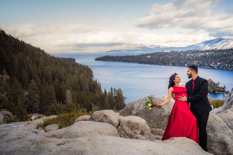 Lake Tahoe pre-wedding session