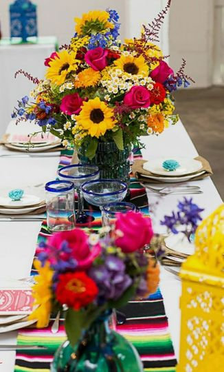 Mexican wedding table setting