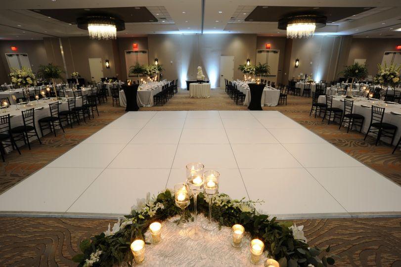 A reception-ready dance floor