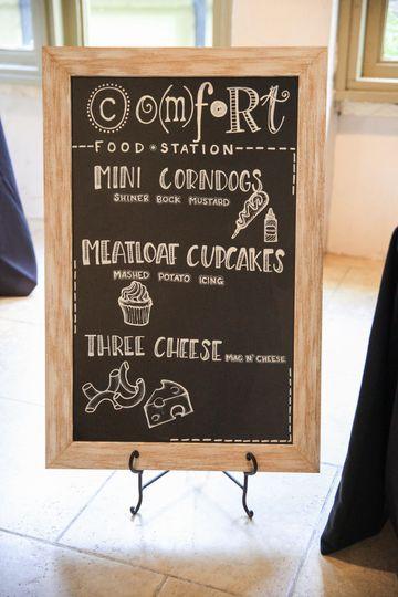 Comfort Food Station Menu