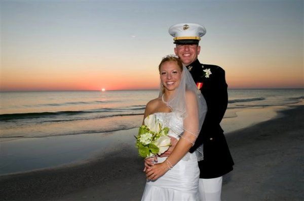 Military couple wedding