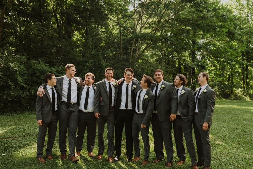 A happy wedding party