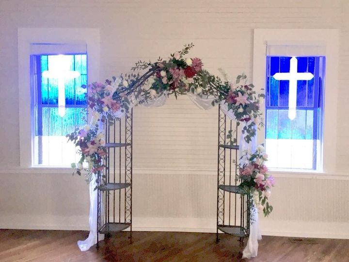 Arch with Fresh Flowers